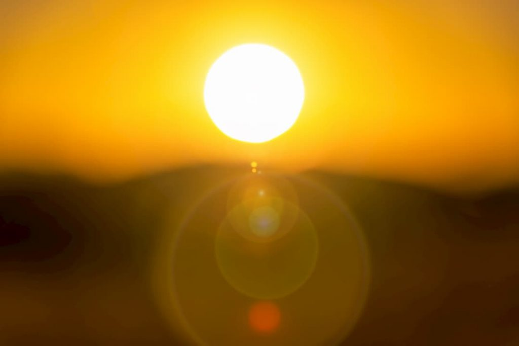 sol calor temperatura elevada