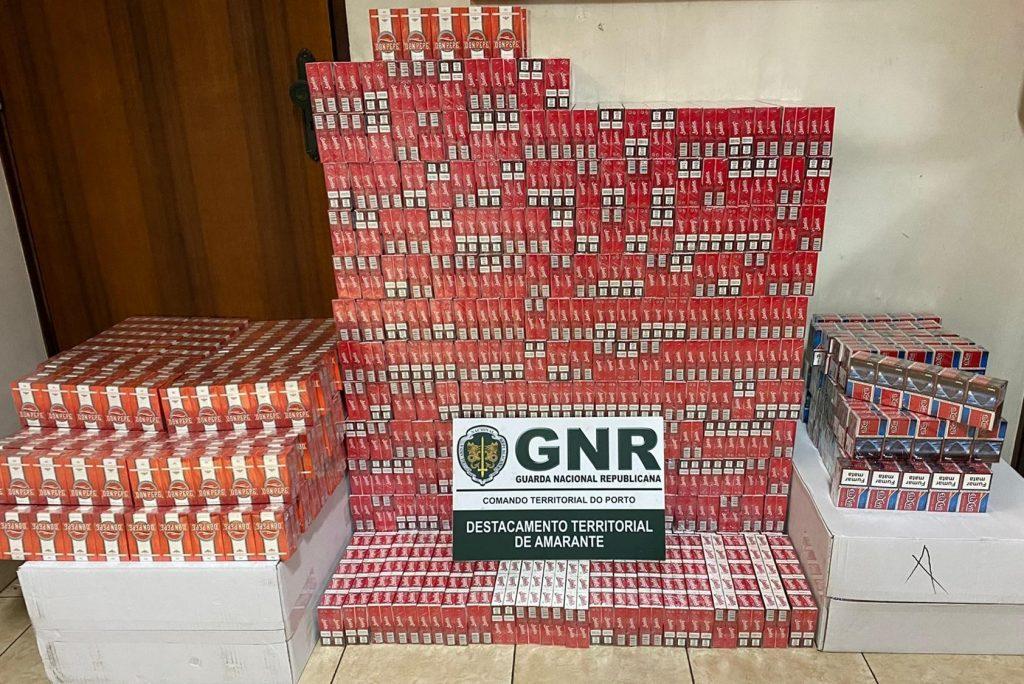 Amarante - GNR apreende 70 mil cigarros