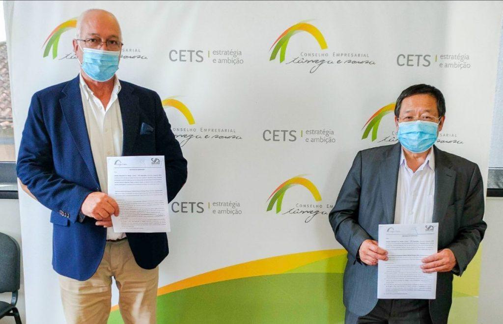 Assinado o protocolo de cooperação entre o CETS e Câmara de Comércio Portugal-China que visa o reforço de apoio às PME's