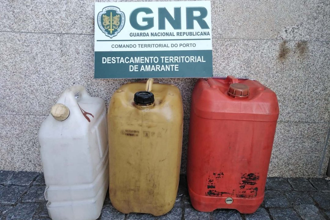 GNR identifica 4 pessoas por furto de gasóleo em Felgueiras