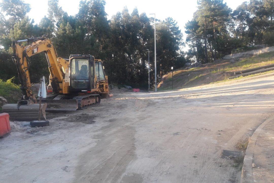 Obras na Urbanização de S. Mamede, em Vila Verde